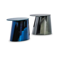 Produkte Classicon pli-side-table-blue-glass-glossy-black-glass-satin-finished