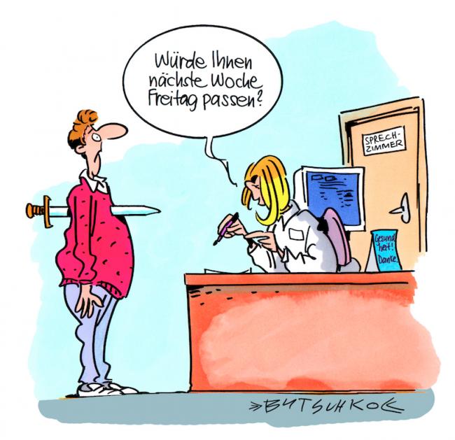 Termin-Freitag-Cartoon-Peter-Butschkow-Copyright